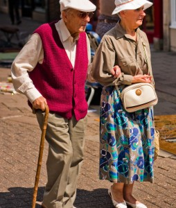 Elderly couple, photo credit Garry Knight
