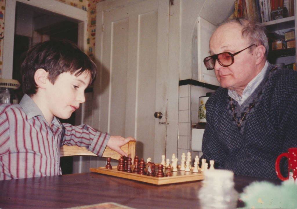 Grandpa and Teman playing chess